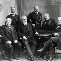 Член Петроградского окружного суда А.В.Поливанов в группе. 1914-1917 г.г.  ЦГАКФФД СПб.