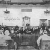 16. Процесс с присяжными в г. Перу (Штат Индиана), 1911 г.