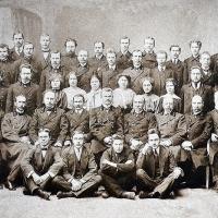 Вятка, служащие окружного суда. 1914 год (50-летний юбилей судебной реформы).